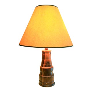 Vintage Turned Wood Lamp
