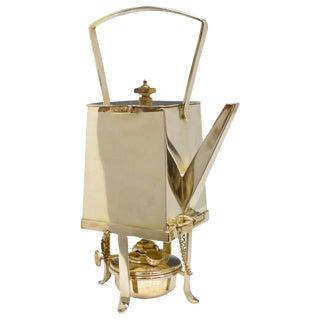 Art Deco Silver Plated Tea Kettle