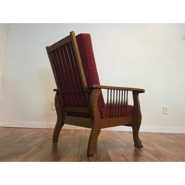 Antique Tiger Oak Morris Reclining Chair Chairish