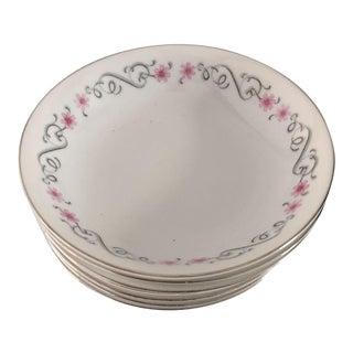 Vintage Floral Berry & Dessert Bowls - Set of 7