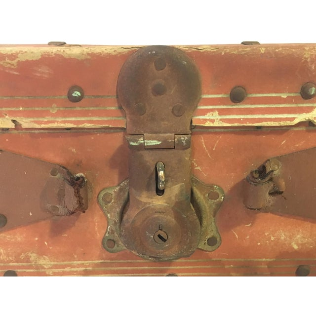 Vintage Leather Suitcase - Image 3 of 4