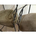 Image of Wrought Iron Bar Stools - A Pair