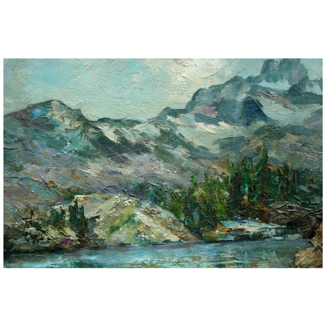 Helen Gleiforst Vintage Peak Yosemite Painting - Image 2 of 3