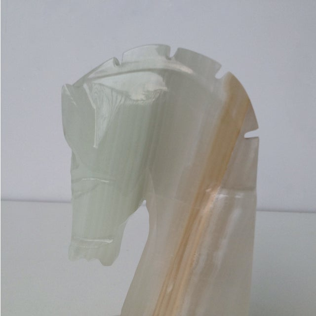 Vintage Onyx Trojan Horse Bookend - Image 6 of 9