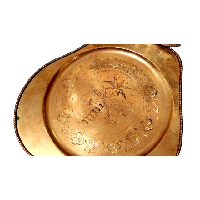 Vintage Brass Pear Serving Trays - Pair - Image 3 of 5
