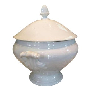 19th Century Acanthus Handled French Tureen with Lid
