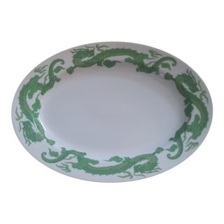 Kosta Boda White Oval Porcelain Platter With Dragons
