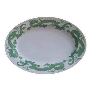 Kosta Boda White Oval Porcelain Platter With Dragons