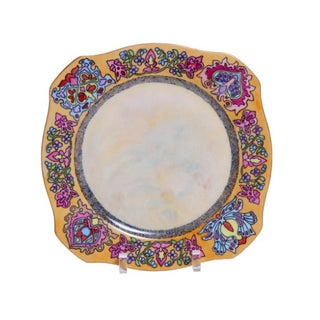 Hand-Painted Porcelain Plate with Moorish Design