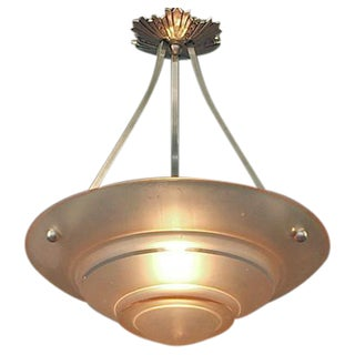 Rose-colored (or pink, or peach) French Modernist Lighting Bowl