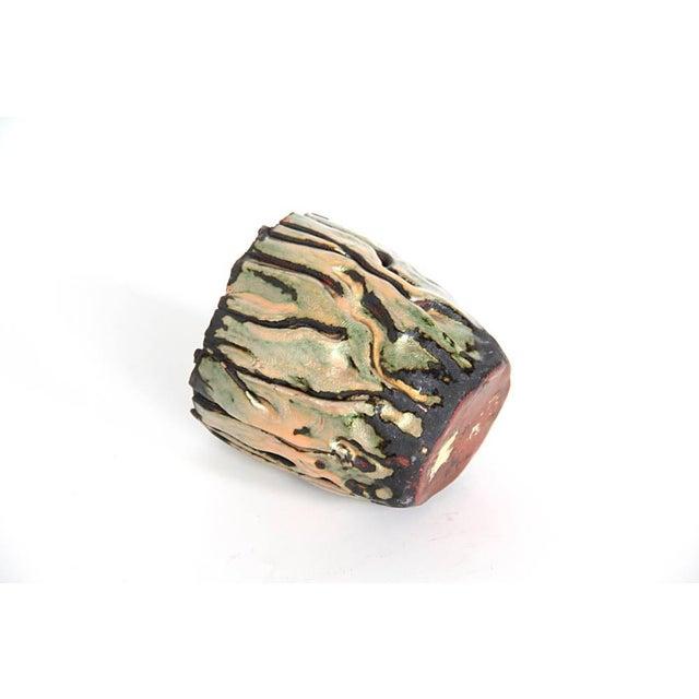 Studio Enamel Copper Vessel - Image 5 of 5