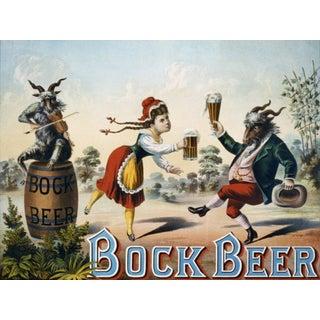 1800's Bock Beer Advertisement Print