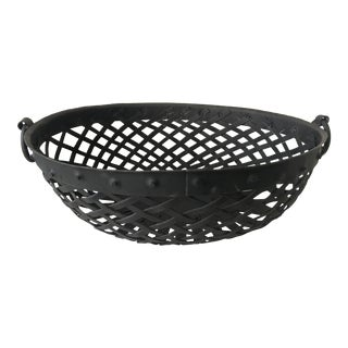 French Metal Handmade Handled Basket