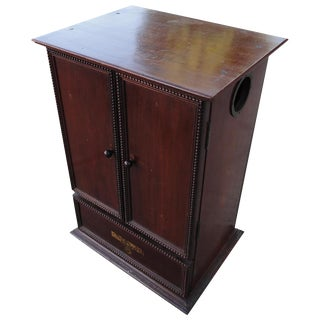 Gecophone Solid Mahogany Small Cabinet