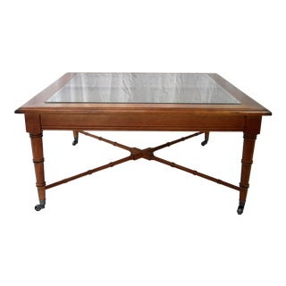Vintage Faux Bamboo Cocktail Table