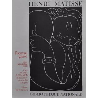Henri Mattise Exhibition Poster C.1970