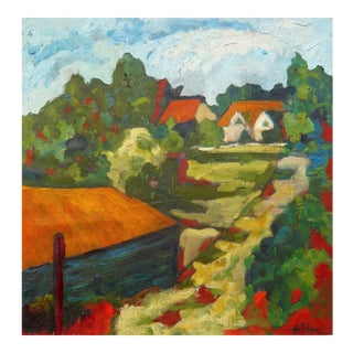 Country Lane oil painting by Martha Holden