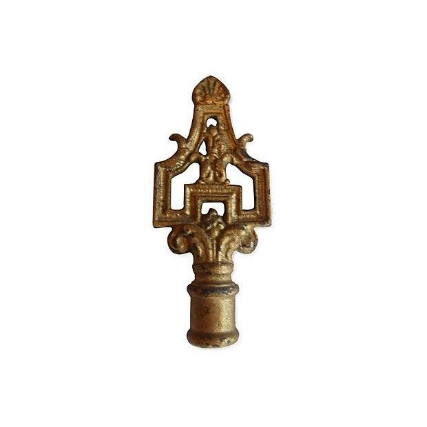 Art Deco Cast Vintage Lamp Finial - Image 3 of 3