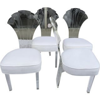 Lucite Shell Back Chairs- Set of 4