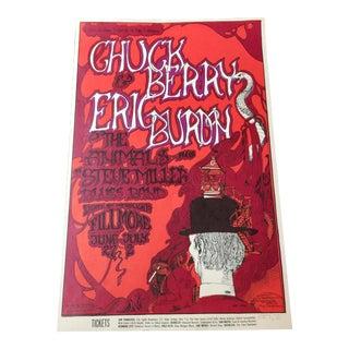 1970 Chuck Berry Rock Poster Bill Graham