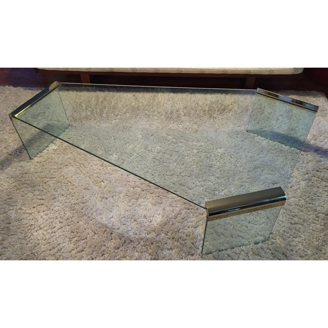Leon Rosen Pace Collection Glass Coffee Table - Image 2 of 8