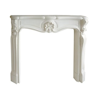 French Louis XV Style Cast Stone Fireplace Surround