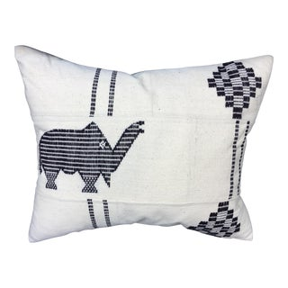 African Mud Cloth Elephant Pillow