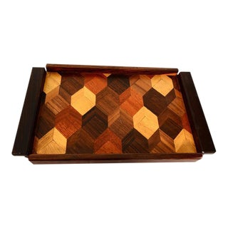 Don Shoemaker Service Tray In Tropical Woods
