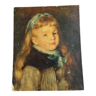 Crackled Renoir Print of a Girl