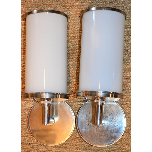 Visual Comfort Studio Cylinder Sconces - a Pair - Image 5 of 10