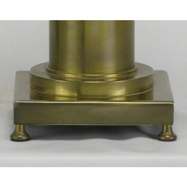 Image of Brass Regency Style Footed Table Lamp