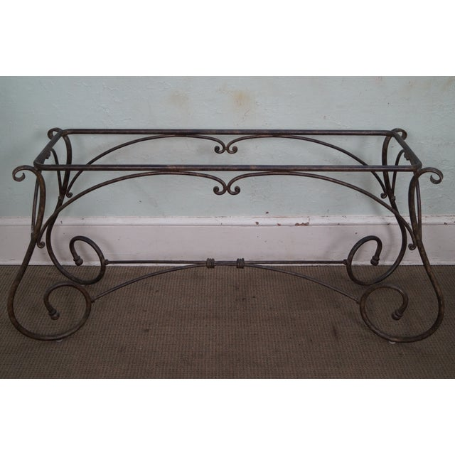Brown Jordan Tuscan Style Console Table - Image 10 of 10