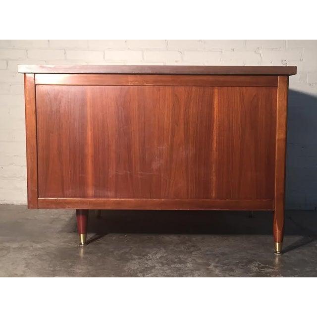 Hoosier Mid-Century Modern Walnut Desk - Image 6 of 10