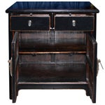 Image of Two-Drawer Black Lacquer Cabinet