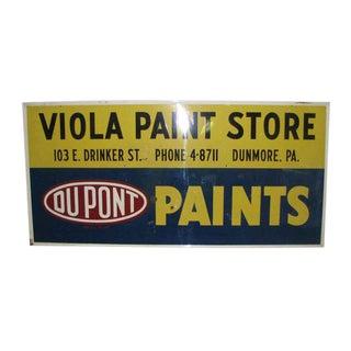 Vintage Metal Paint Store Sign