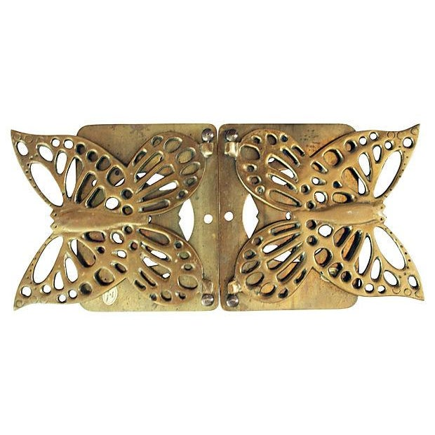 Image of Brass Butterfly Bookends - a Pair