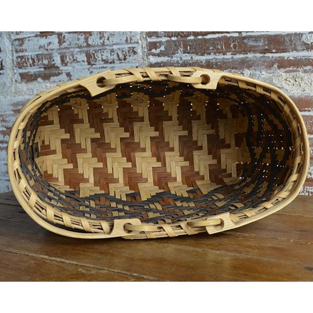 Carol Welch Cherokee White Oak Purse Basket - Image 10 of 10