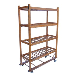 19th Century American Cobbler's Shoe Drying Wood Rack, Multiple Available