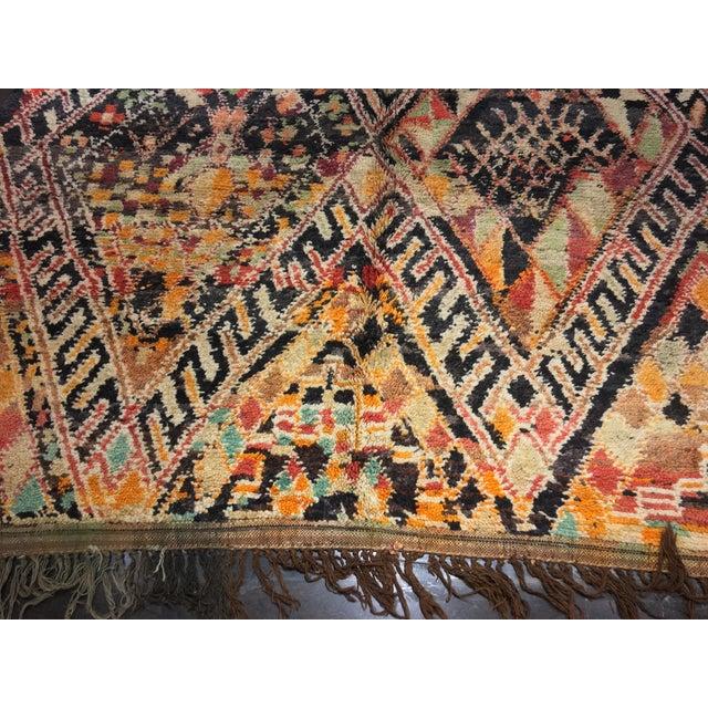 """Vintage Moroccan Area Rug - 6'4"""" X 10'"""