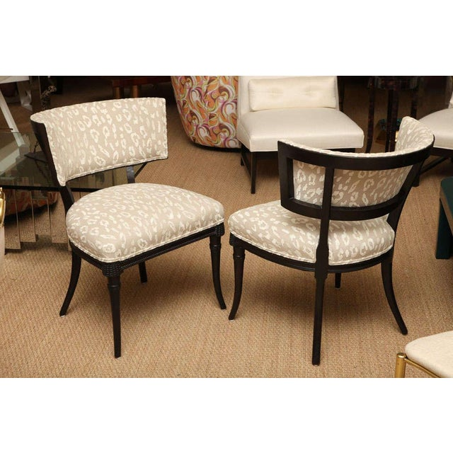 Elegant Pair of Sculptural Grosfeld House Side Chairs - Image 2 of 10