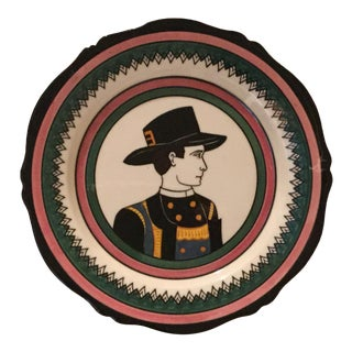 Antique Henriot Quimper Plate