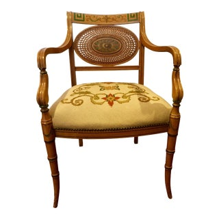 Vintage French Provincial Style Needlepoint Chair