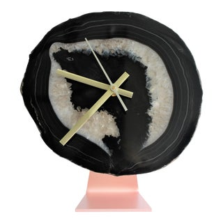 Agate Slice Quartz Desk Clock