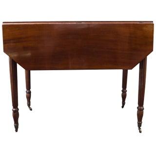 Drop Leaf French Mahogany Table