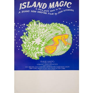 "Vintage ""Island Magic""  Surf Movie Poster"