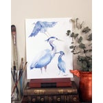 "Image of ""Blue Herons"" Original Watercolor Painting"