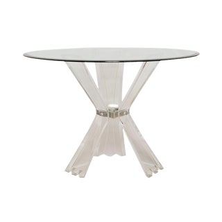 Lucite and Glass Dining or Entryway Table