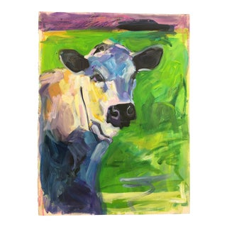 """Buster"" Cow Oil Painting"