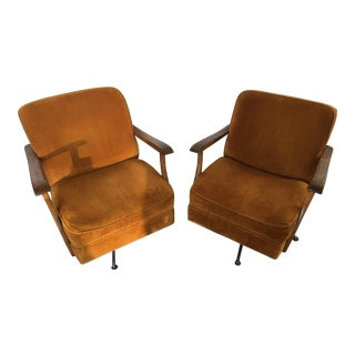Mid-Century Swivel Rocker Chairs - A Pair