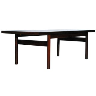 Modern Rosewood Coffee Table with Extending Top